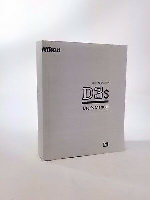 Nikon D3s Instruction Owners Manual D3s Book NEW