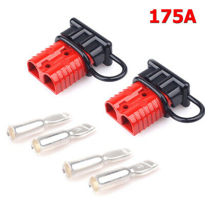 2PC Battery Connector 2 gauge Winch Cable Quick Connect Booster Plug 175A 12-36V