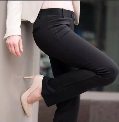 NWT Betabrand Straight Leg Dress Pant Yoga Pants Black Sz M
