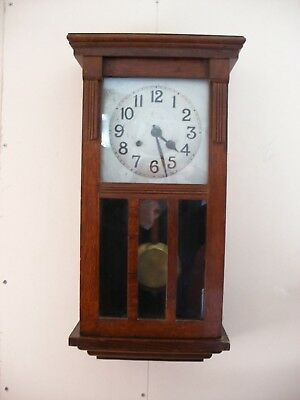 Wall Clock Good Working New Haven 1890 Chimes on the hour in very good condition