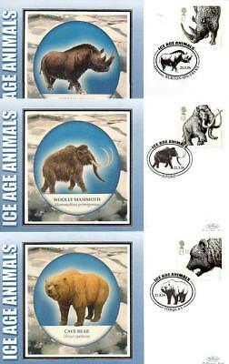 ALL 5 BENHAM BS500-504 ICE AGE ANIMALS FDC'S 21-3-06 each with SHS F10