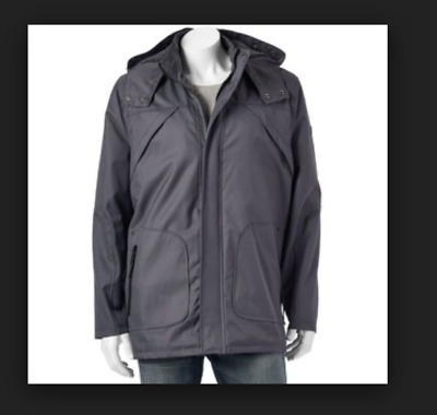 Men's Urban Republic Ballistic Parka Charcoal Men's XL Charcoal Gray Coat