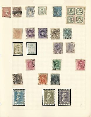 Spain Collection  on 12 Quad Pages, All Different Lot (A)
