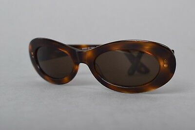VTG 90's CHANEL PARIS CC OVAL TORTOISE SHELL MADE IN ITALY SHADES SUNGLASSES