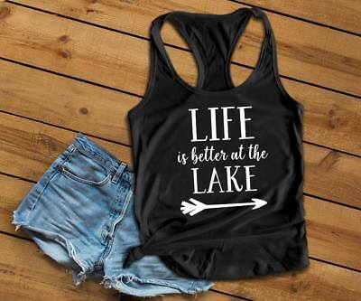 a485d6fe0faf LIFE IS BETTER At The Lake Tank Top