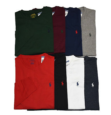 Men Polo Ralph Lauren LONG SLEEVE Crew Neck T Shirt S M L XL XXL - STANDARD FIT