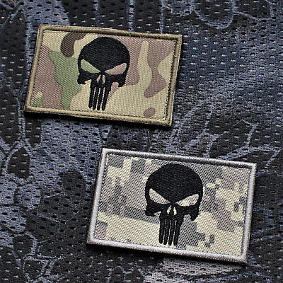 Ursuz Punisher Patch Aufnäher Klett Airsoft Gotcha Everyday Carry Paintball EDC