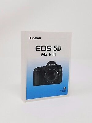 Canon EOS 5D Mark III Genuine Instruction Owners Manual 5D III Book Original NEW
