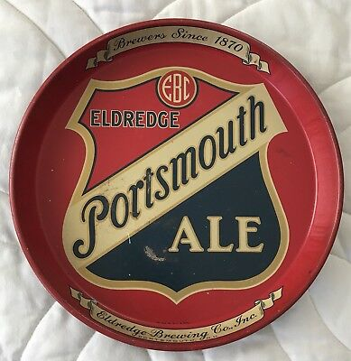 Rare 1930s Eldridge Portsmouth Ale New Hampshire 12 inch Beer Serving Tray