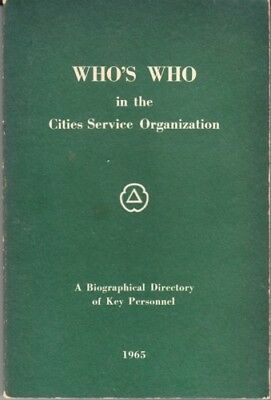 1965 Cities Service Biographical Directory of Key Personnel