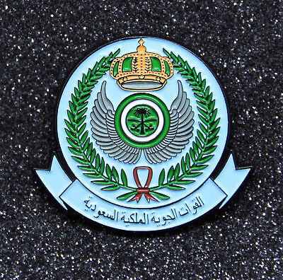 Pin ROYAL SAUDI AIR FORCE insignia memorabilia RSAF DMG metal pin 1.5 inch/ 38mm