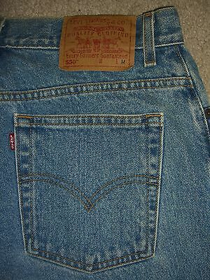 LEVIS 550 Relaxed Fit Tapered Leg Light Blue Denim Jean Women Size 14 Mis M x 30
