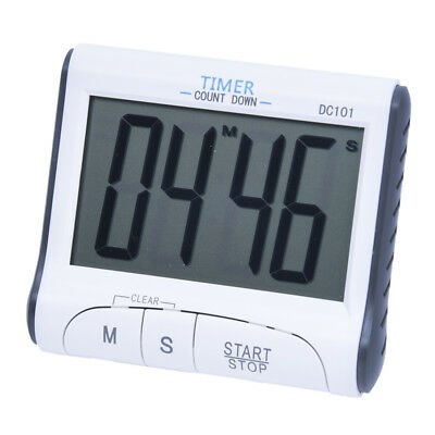 T8 LCD Kitchen Digital Timer Count Countdown Clock Alarm Clock (White) R
