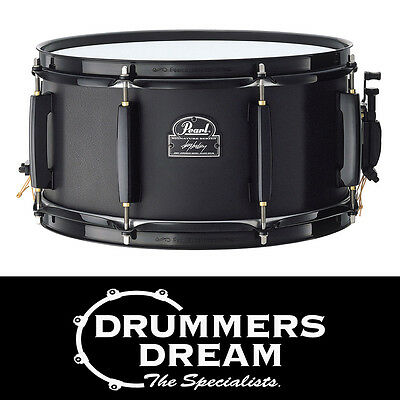"Pearl JOEY JORDISON 13"" x 6.5"" Signature Steel/Black Shell Snare Drum RRP $599"