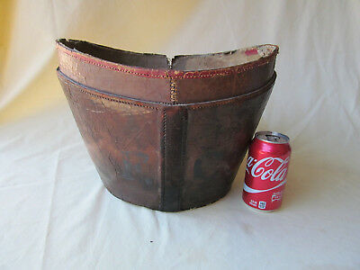 Antique Leather Stovepipe Hat Box