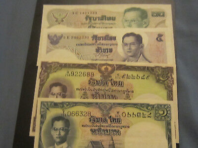 Thailand Banknotes, 4 UNC Notes, US Buyers Only