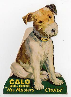 Calo Dog Food*vintage Store Display Sign Die Cut Stand Up*terrier*masters Choice