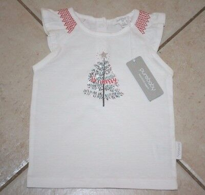 Pure Baby New With Tags Rrp $29.95 , 3-6 Months Christmas Tree Tee-Shirt