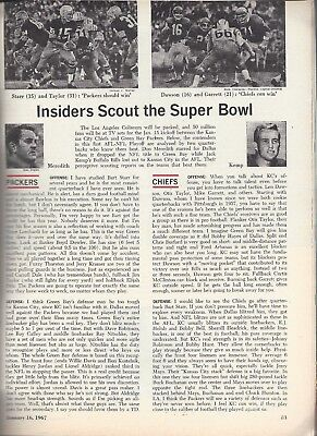 1968/SUPER BOWL II PREVIEW-GREEN BAY PACKERSvsOAKLAND RAIDERS/NEWSWEEK/LOMBARDI