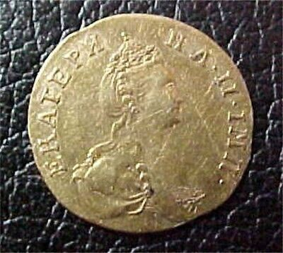 Russia, Catherine II Gold 1/2 Rouble, 1777