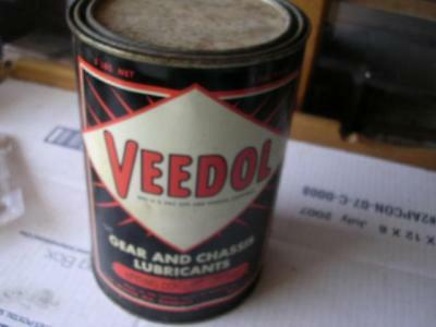 Vintage Veedol Gear and Chassis Lubricant (Spring Control Grease) 5 lb Can