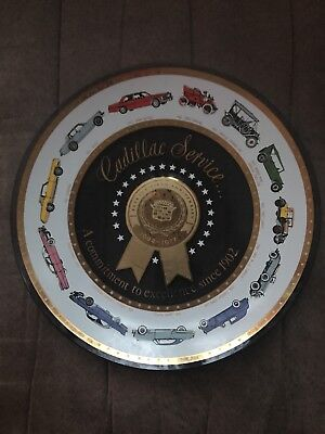Glass Plate Cadillac Service Seventy Fifth Anniversary 1977 Excellence Award