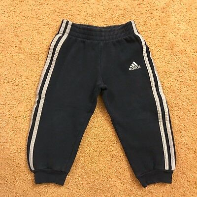 Adidas Toddler Sweatpants Little Boy Girl Unisex Pants Bottoms Size 3T Navy Gray