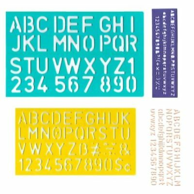 Stencil Set 5mm to 30mm Alphabet Letters Number Plastic Stencils Large Lettering