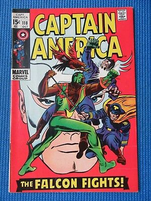 Captain America # 118 - (Vf-) - 2Nd Appearance Of The Falcon