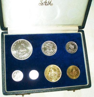 1961 South Africa SILVER Proof Set in Original Presentation Case. Beautiful Set