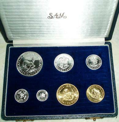 1962 South Africa SILVER Proof Set in Original Presentation Case. Beautiful Set.