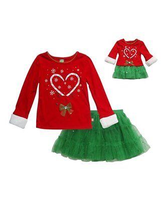 Dollie and Me 2 Piece Outfit Size 7 With Matching Doll Outfit NWT