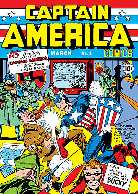 Captain America Comics #1 (1941)  Photocopy Comic Book - Timely Comics