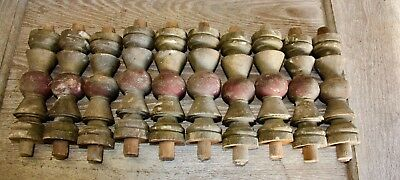 SET OF 10 FARM FRESH Multicolor SALVAGE Wood SPINDLES Balusters 7.5""
