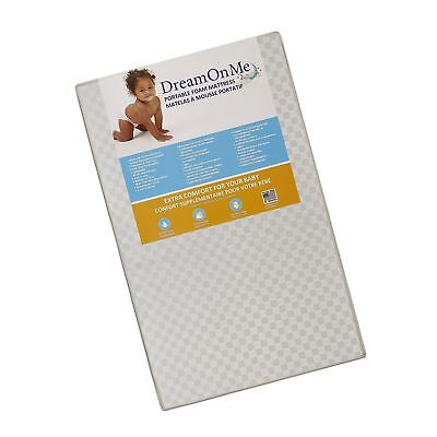 Dream On Me 3 Portable Non-full size crib mattress White Vinyl