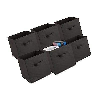 Foldable Cube Storage Bins 6 Pack These Decorative Fabric Cubes A