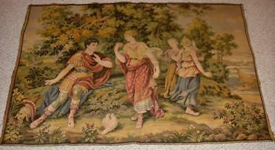 ANTIQUE WALL HANGING TAPESTRY ANTIQUE TEXTILE WOOVEN TAPESTRIES RARE TAPESTRY nr