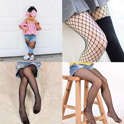 Kids-Children Girls Black Tights 3 Sizes Mesh Fishnet Pantyhose Stockings Socks