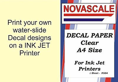 Decal Paper Clear A4Size INK-JET Printer N304 (1 Sheet)