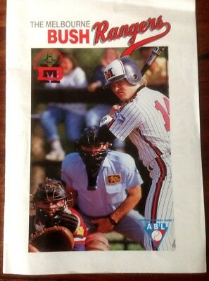 """Old, Collectable 1990 Abl """"bush Rangers"""" Official Team Magazine"""