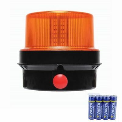 New  Battery Powered Portable Led Strobe Beacon Magnetic Flashing Amb82 Car Van