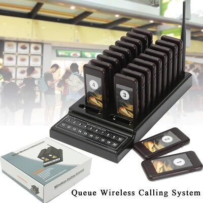 20 Coaster Restaurant Pager Guest Call Wireless Paging Queuing Calling System CA