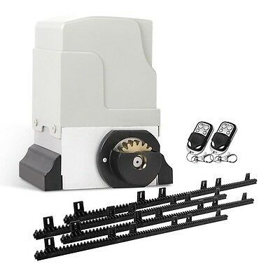 NEW 550W 1800kg Capacity Automatic Sliding Gate Opener with 2 Remote Controls