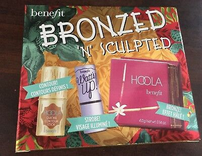 Benefit Hoola Stick Bronzed 'N' Sculpted Set Gift Whatts Up Highlighter Genuine
