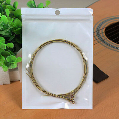 Durable Set of 6 Bronze Steel Strings For Acoustic Guitar HOT SALE