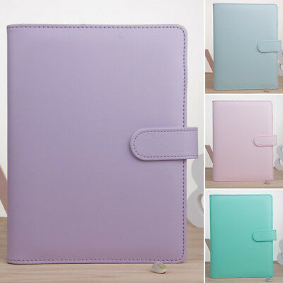 A5 School Office Loose-Leaf Ring Binder Notebook Macaron Color Agenda Diary Case