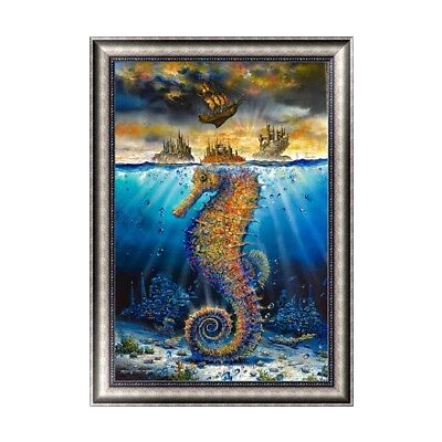 DIY 5D Diamond Painting Sea horse Cross Stitch Embroidery Craft Home Decor