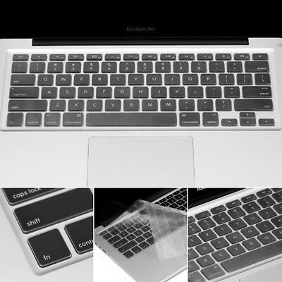 Thin Clear TPU Keyboard Cover Skin Protector for Apple Macbook Pro Air 13 15 17