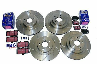 For Subaru Impreza WRX Brake Discs and EBC Brake Pads Dimpled Grooved 2.0