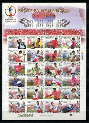 29671) KOREA 2002 MNH**  WC Soccer 2002 football MS